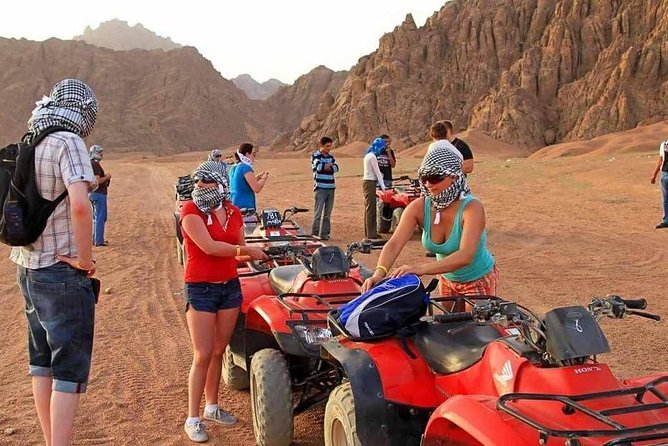 Enjoy a desert adventure safari trip by jeep 4*4 from Marsa Alam to discover the story about Bedouins life and traditions and relish tasting a Bedouin tea and smoke water pipe, Also you will have a chance to drive the quad bike through the mountains with a BBQ dinner and Bedouin show