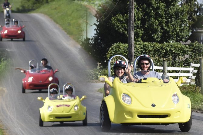 Experience Lancaster County in the 5-Star tour tradition of Strasburg Scooters. Wind your way through back country roads, on three wheels, in search of our favorite Pennsylvania Dutch treats, off-the-beaten-path shops, and unique surprise encounters along the way. Ride around farmland surrounding the Village of Intercourse and Bird-in-Hand, PA. This tour is a great way to get up close and personal with Pennsylvania's Amish Country while creating a lifetime of memories.