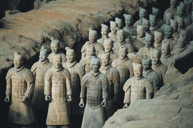This convenient day trip delivers you by bullet train from Pingyao to Xi'an for a guided tour of the UNESCO-listed Terracotta Warriors. If you have extra time, you can climb Xi'an's remarkably preserved ancient city walls or stroll around the Muslim Street to experience the local life and try their tasty snacks. You can choose to end your tour in Xi'an or travel back to Pingyao. Round -trip hotel transfers, train tickets, entrance fee and local lunch are included. <br>