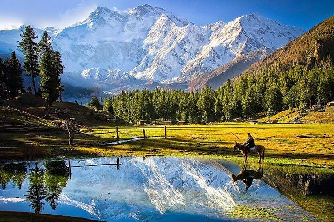Enjoy unparalleled views of the beautiful Nanga Parbat (8,126m)<br>See an 8,000m peak up-close without doing multi-day trekking (perhaps this is the only such tour in the world!)<br>Relax in the lush green plateau of Fairy Meadows, with breathtaking views of Nanga Parbat.<br>Witness the magical views of Milky Way Galaxy and the mighty Nanga Parbat in the same frame!<br>Enjoy the marvelous mountain scenery on the 8th wonder of the world, the Karakoram Highway<br>If the road is not blocked, cross the beautiful Babusar Pass (4,173m) which connects Naran Valley with Chilas<br>Experience the hospitality and culture of local people<br>Experience outclass service throughout the tour