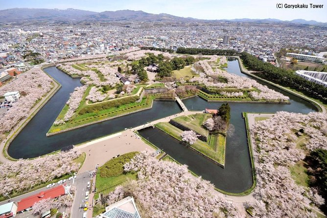【OUTLINE】<br>You do not need to secure a space by yourself! A cherry-blossom viewing plan with seasonal 'bento,' a Japanese boxed lunch, at Goryokaku Park! Appreciate ample and colorful Japanese dishes using seasonal ingredients such as tempura and boiled dishes. Beer, soft drinks, side dishes (onigiri rice ball, edamame, etc.) can be ordered on the spot. Please feel free to bring food and drinks with you! Enjoy an authentic cherry blossom viewing in the prime location next to Goryokaku Tower!<br><br>【HIGHLIGHTS】<br>・Goryokaku Park, a cherry blossom viewing spot with 1600 cherry trees<br>・Enjoy cherry blossom viewing while having a boxed lunch full of Japanese delicacies using seasonal ingredients<br>・A prime location next to Goryokaku Tower secured for you<br>・Side dishes and drinks can be ordered on the spot, or brought with you<br>・Appreciate cherry blossoms illuminated at night