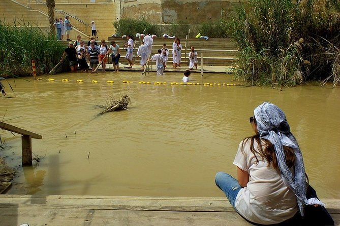 Visit 'Bethany Beyond the Jordan,' also known as El-Maghtas, the believed location of Jesus' baptism, on the Jordan River. Tour the ancient relics at the site, also held holy in the Jewish and Muslim religions.
