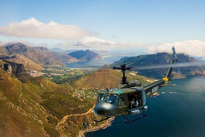 CAPE TOWN HELICOPTER TOUR 10:00AM<br><br> Fly around the beautiful city of Cape Town and get a birds eye view of our beautiful coastline and mountain range. On this trip you will get a better idea of Cape Town's layout and see all the places that you have visited or will visit. way to kick off your holiday! Enough memory on your cameras and phones, you don't want to miss out on these amazing photos. You will depart from the V&A Waterfront at Sport Helicopter's helipad. After the tour you will receive a complimentary glass of sparkling wine as well as transport back to the V&A Waterfront