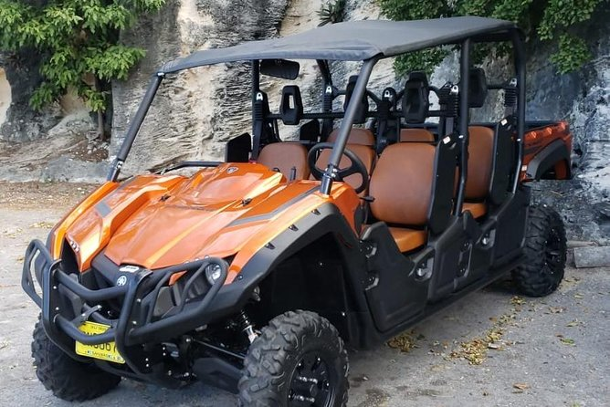 Get ready to shake, rattle and bump in your six-person 4x4 automatic Yahama Buggy as you bob your way around the island on a scenic road trip full of breathtaking views. Enjoy the landscape and feel the energy that emanates from the natural environment as you pass the many sites such as the Fort Charlotte, The Caves, Fort Montague, the Queen's staircase and many others.