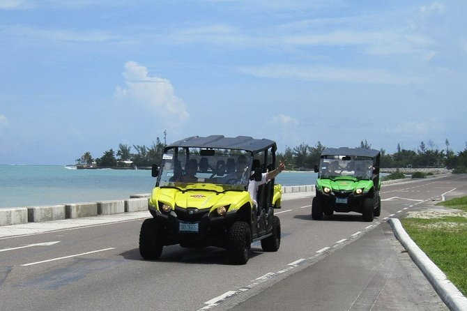 Take a unique 3 hour guided island jeep tour of Nassau, the most amazing island of the Bahamas. Tour the highlights of the city's many historical and cultural sights. This is the most exciting and fun way to tour Nassau while getting a feel for the vibrant energy and local flavor that is unique to the island. There is no better way to get around than by jeep.