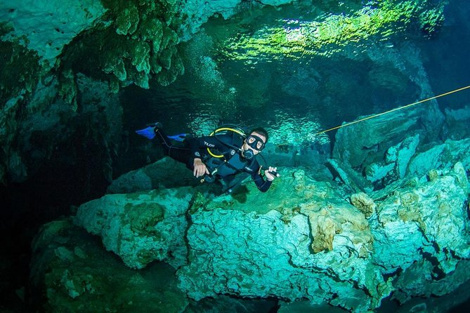 2 different divings in the same cenote for certified divers in Tulum, Tulum, MÉXICO