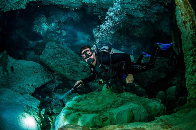 2 different divings in the same cenote for certified divers in Tulum, Tulum, MEXICO