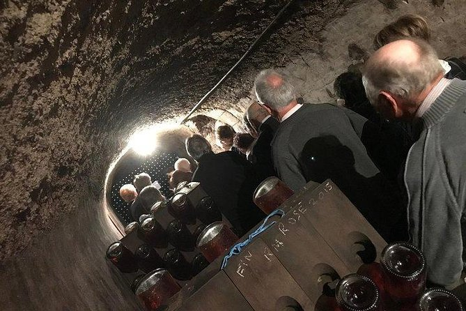 Discover a typical cellar dug by hand in the Champagne chawlky soil. Taste 3 Grand Cru Champagnes. Looking for an interactive experience with a passionnate guide, taking the time to fulfill your expectactions ? Then this tour is the one you're looking for !