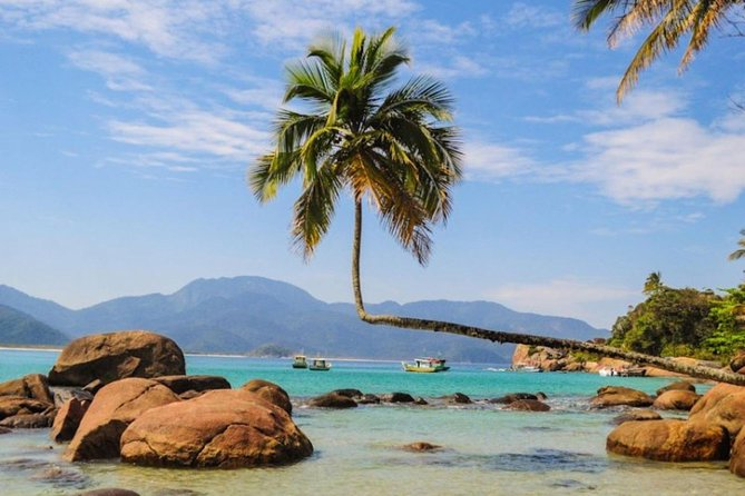 Get ready to visit the second most famous beach on the oceanic coast of Ilha Grande, the iconic Aventureiro beach, the island's postcard and one of the most popular places in Brazil.<br>The paradisiacal place where the famous coconut tree is lying, where you can enjoy fine white sands and calm and crystalline waters, surrounded by a unique landscape full of magic.<br><br>A fantastic tour also stopping at beaches of unique beauty such as Parnaioca and Meros, in addition to Praia da Maguariqueçaba where we can buy a typical island lunch with the best view we can imagine.