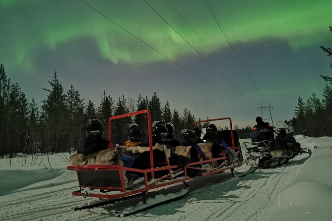 The northern lights Snowmobile Sledge adventure run from Santa Claus Village, Rovaniemi, and offers an exciting chase for the northern lights. U will be taken into different areas by sledge to look for the Polar Lights!