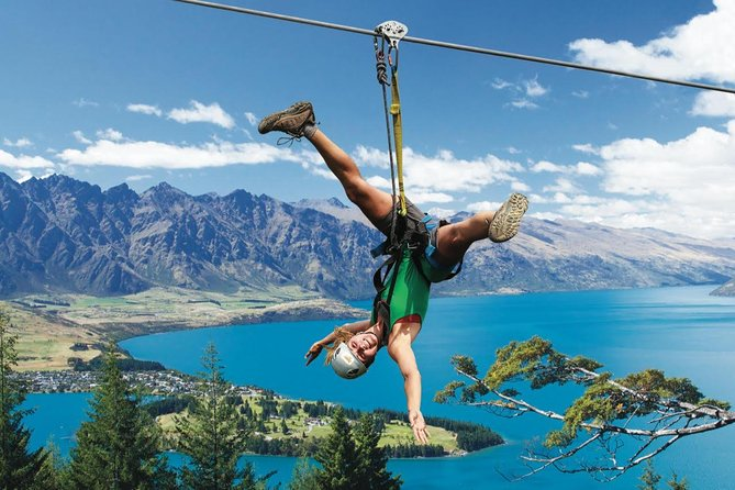 Find out why Queenstown is New Zealand's adrenaline capital with this zipline adventure! Launching from the Ziptrek Treehouse at the Skyline Gondola summit, you'll zipline down the mountain and take in panoramic views of Lake Wakatipu and the snow-capped Remarkables mountain range. With three tours to choose from it's fun for everyone - whether you are looking for an introduction into Queenstown adventure, excited by the thrill of the world's steepest tree-to-tree zipline, or taking the plunge on our newest tour; the Kereru, which features a 21 metre drop!