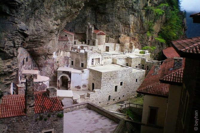 Sumela Monastery, visit the 4 th century Sumela Monastery, clings to a sheer cliff face in a deep forest, relax beside a fast flowing stream at Altindere Valley National Park, lunch, traveling along the old Silk Road through the Zigana Mountains will take us to Karaca Cave, considered the most beautiful in Turkey for its colors and formations, <br>Trabzon St. Sophia (Ayasofya), a 13'th century church and study extraordinary collection of byzantine frescoes, depart for Gulbahar Hatun Mosque, Castle and Atatürk's Mansion, a picturesque hilside retreat, visit Ortahisar Mosque, a Comneni cathedral in the old town, Girls' Monastery, a nunnery built by Alexios III in 13.th century. Enjoy the panoramic view of the city from Boztepe. Depart for Uzungöl, one of the most photogenic locations in the region, lunch at a fish restaurant, sightseeing and dinner