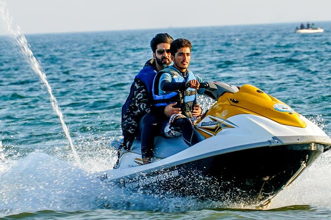 We offer Yamaha Jet Ski's on Hourly and Full Day Rental Basis at Hawksbay and Turtle Beach Karachi. <br><br>It can accommodate upto 2 persons and has a cruising speed fo over 22 knots<br>Comfortable Sitting Capacity : 1-3 Persons<br><br>Unlimited Guests are Allowed on Full Day and Hourly Charters<br><br>Diver or Attendant will be Present at all Times Price Includes Fuel + Driver + Life Guards + Life Jackets + Handler
