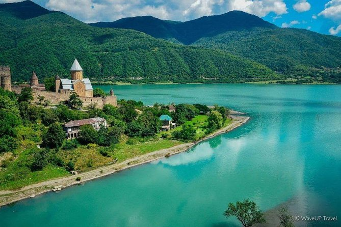 """Discover the most ancient historical sites of Georgia in a single day tour from Tbilisi , visit Mtskheta - """"Old capital"""" an ancient pre-Christian 2500-year-old city , UNESCO World Heritge Site Jvari monastery , embark on an exciting journey along the beautiful Georgian Military Road, visit the fortress of Ananuri and the churches of Gergeti built at the foot of Kazbek Mountain, which rises 2300 meters high and enjoy the breathtaking panoramic views of the great Caucasus.<br>"""