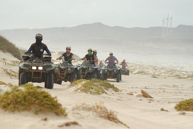 Venture in Boa Vista strolling on an exciting quad. Visit Santa Monica or Cabo de Santa María, Suitable for anyone who likes to ride a quad, we offer excursions to discover the dunes of Morro D'Areia in the Bay of Chaves or Cabo de Santa María.