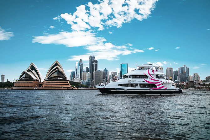 Step on board and begin your Sydney Harbour adventure. Our modern 78ft vessel is designed to feel luxurious and super comfortable, so you'll feel right at home. <br><br>Enjoy 360-degree views of the iconic attractions as we sail past. We think lunch should be a long, lavish affair, so we serve generous al la carte meals inspired by locally sourced, regionally inspired delights. Think local seafood from the Hawkesbury, lamb from lush pastures in the Riverina and beef sourced from the upper Hunter Valley. We pair these with a selection of beers, wines, soft drinks and tea or coffee. Our wines have been hand selected by our sommelier from some of the finest wine regions in New South Wales – so wine lovers are in for a real treat!<br><br>After lunch we head back past Taronga Zoo and Luna Park before arriving back into Darling Harbour at 2.40pm.