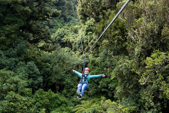 Nowhere else in the world can you soar through an untouched New Zealand forest, stand on ancient giants and become a part of a conservation success story all in one! <br>Since James and Andrew opened our doors in 2012, we have been working hard to preserve one of New Zealand's most unique and untouched indigenous forests. We created this experience to transport you into a Jurassic world, showcasing New Zealand's unique plants and wildlife (you may even get to feed one of our birds). You help this project, your entry contributes back to our conservation efforts to save this ancient world. Thank you for your support!<br><br>You will be part of a small group (<10) with two of our knowledgeable kiwi guides who will delight you, making sure you safely enjoy every moment. Ask as many questions as you'd like and capture the moments with pictures and videos (although we have free photos of your experience for you after the tour). <br><br>There's good reason we are award winners – come and see for yourself!<br>