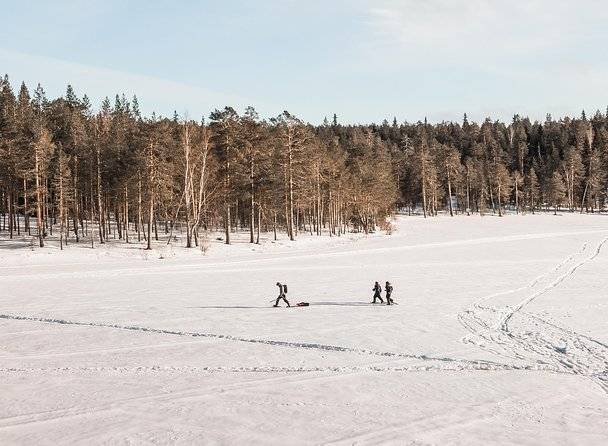 This tour allows you to experience Lapland nature at its best with two local activities combined together : snowshoeing through the forests and ice-fishing on an immense frozen lake.<br><br>After being picked up from your accommodation and given proper winter clothing/boots (it can be as cold as -30C in Lapland!), your guide will drive you around 20km away from Rovaniemi to find the perfect peaceful place to start your trip. Before heading into the forests, you will be given some instructions how to use the snowshoes and walk on snow. As you snowshoe through the quiet snowy landscapes, you will already feel the harmony of Lapland nature that surrounds you.<br><br>Soon you will end up in an immense open area made of ice and snow. It is time to find a promising spot on the lake and try to catch your lunch! Your guide will help you drill your own hole in the ice, and will teach you the basic techniques how to ice-fish. Then, it is just a matter of time and patience before you can feel the first bites ! This is just the perfect moment to appreciate the silence that reigns over the lake.<br><br>While you will be fishing, your guide will chop wood and prepare a fire on the shores for you. Some typical Finnish snacks and hot drinks will be waiting for you around the fire and will offer a convivial opportunity to your guide to answer all your questions about life in the Arctic and Lapland in general. If you manage to catch a fish (of a decent size), your guide will happily prepare it, cook it straight over the fire and add it to the menu of the day! If the fish are undersized, we will quickly return them to the ice without unnecessarily harming them.<br><br>After this ice-fishing experience, it will be time to put back on the snowshoes and head back to Rovaniemi!<br><br>In all our excursions, our groups arelimited to 8 travelers maximum. It it very important for us to provide you with the best experience as possible, and avoid mass tourism. This way, your guide will know yo
