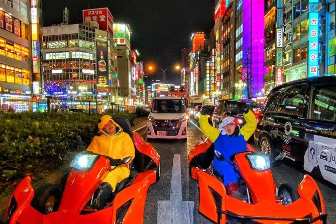 Go-kart tour Shinjuku drive metroporitan area with Iconic Photes, Tokyo, JAPON