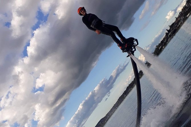 There is no better way to experience flying above the crystal clear water of Lake Taupo than Flyboarding... or feeling the rush of 1500 gallons of water per minute rushing out from underneath your feet giving you an experience unlike any other. It is super safe and easy to learn for all ages 12+ and will leave you wanting to do it again and again
