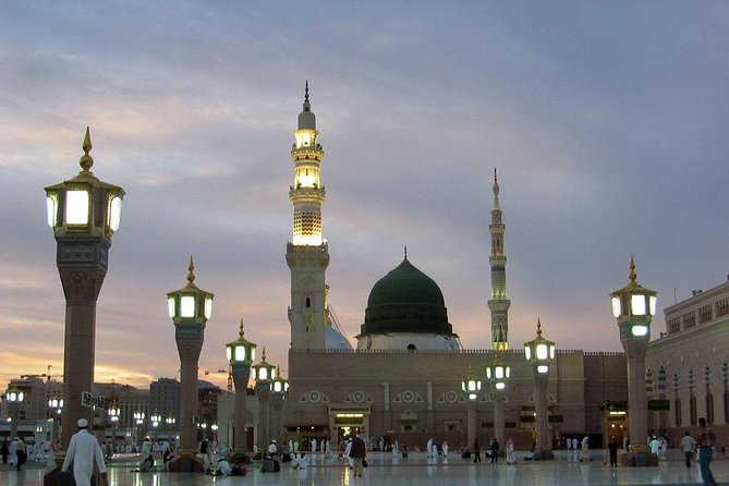 Madinah Munawwarah or Medina al-Munawwarah (المدينة المنورة ) is the second most holy city for Muslims because there is Masjid-e- Nabawi where Muhammad's tomb is located. Medina is 210 miles (340 km) north of Mecca and about 120 miles (190 km) from the Red Sea coast. <br><br>After picking your from your location, our tour will start from Masjid-e-Quba, the first mosque built by Muslims, then Masjid-e-Qiblateen where Muhammad (PBUH) received the command to change the Qiblah. Masjid-e- Juma where Muhammad (PBUH) prayer first Juma. 7-Mosques is a complex of six small historic mosques, Shuhada Uhud and Hazarat Salman Farsi Garden (Dates) are also included in our visits.<br><br>- Air-Conditioned Vehicles<br>- Reliable and Affordable Private Visit<br>- All our Drivers are expert Knowledge of Madinah Holy Places / Ziyarat<br>- Ride flexibility<br><br>