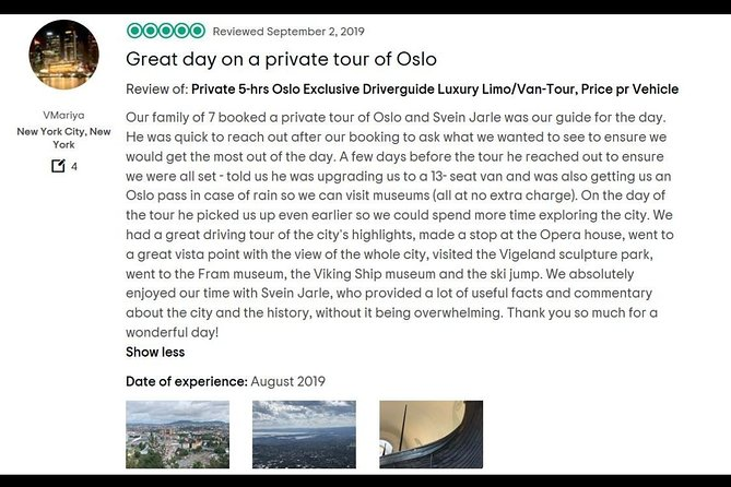 Private up to 8 hours Full-Day Exclusive Oslo Tailormade Limousine Tour, Oslo, NORUEGA