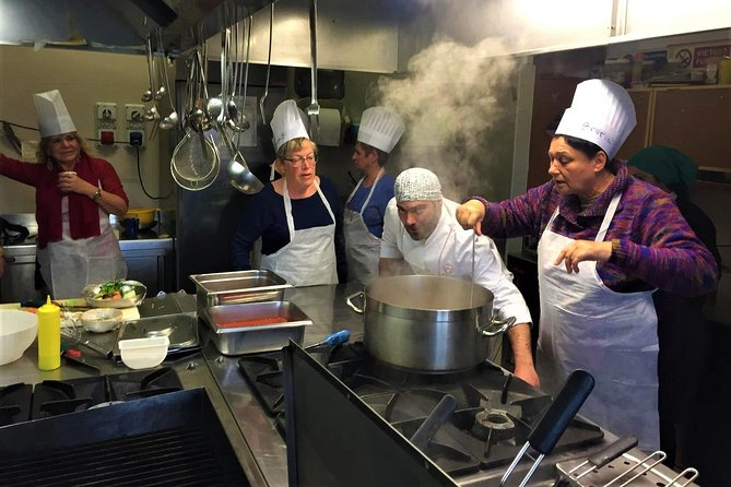 Cooking Italian Food With An Italian Chef In a restaurant, Perugia, ITALIA