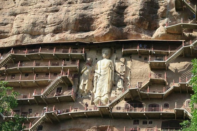 Today you will visit one of the famous Buddhist Grottoes in Tianshui Gansu China, it is listed on the UNESCO World Cultural Heritage, built in 384-417 AD with about 10632 clay sculptures and stone carvings, 221 Buddha caves, and 1300 square meters murals, famous for its exquisite clay sculpture art, and known as the Oriental Sculpture Art Exhibition Hall.<br>Then you will visit the Fuxi temple and one of the most famous scenic spot Daoism temple ,it is one of the famous ancient buildings in Northwest China. It was originally named Taihao palace, commonly known as Renzong temple, where Fuxi was worshipped. It is said that he is the ancestor of the Chinese people. <br>Tianshui is a small city so pls better book this tour one week ahead so we have enough time to find English speaking guide.