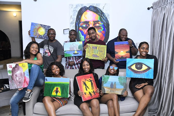 Book a Class with us and experience Lagos at its best~<br>Its an Unforgettable experience of Fun, friends and Painting!