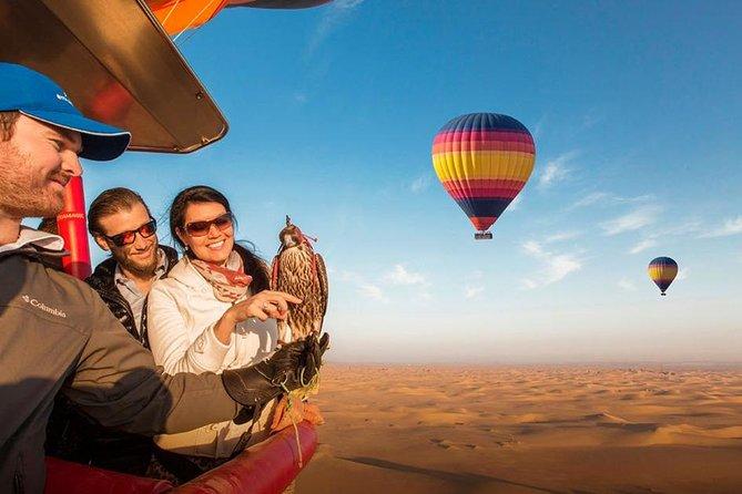 MORE PHOTOS, Hot Air Balloon Ride over Dubai Desert, Breakfast, Falcons & 1950s Land Rover