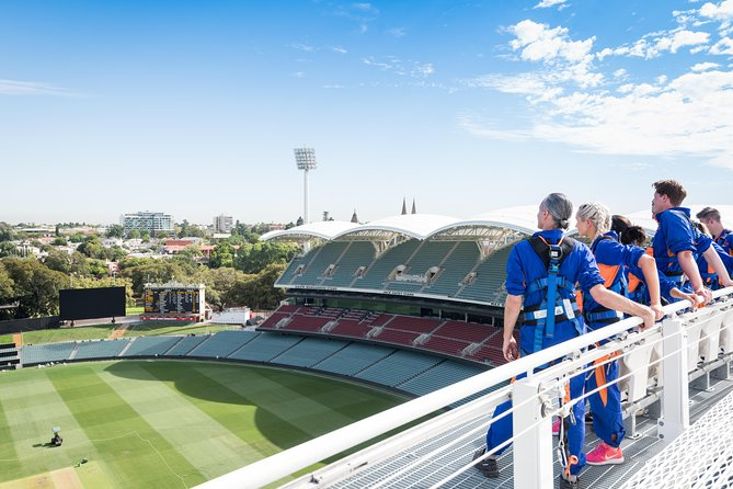 Experience this 2-hour adventure along the roof of the Adelaide Oval in the heart of the city. With your guide, navigate from the Western Standacross a link bridge to the Riverbank Stand. Your small group limited to 14 travelers will be led to an open viewing deck overlooking the southern end of the ground. Choose between nine departure times when you book.