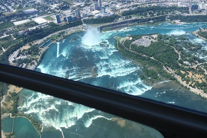 Marvel at Niagara Falls from a bird's-eye view on this exciting 20-minute helicopter tour. Enjoy unsurpassed panoramic views of Niagara Falls and Niagara-on-the-Lake's historic landmarks, and then fly over the region's renowned wine country. See it all in a way unimaginable from the ground!