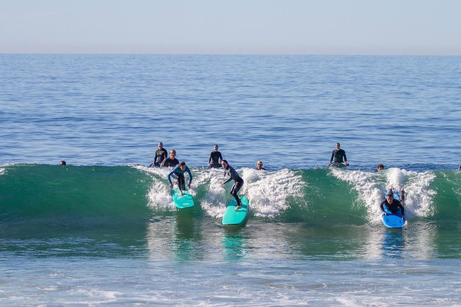 Our semi-private lessons are limited to 3 students to every instructor. We teach at Thalia St, Laguna's best location for beginner waves. Our 2 hour lessons allow you ample time to learn paddle out, wave judgment, etiquette, and pop-up techniques. Call us if you prefer a private lesson.