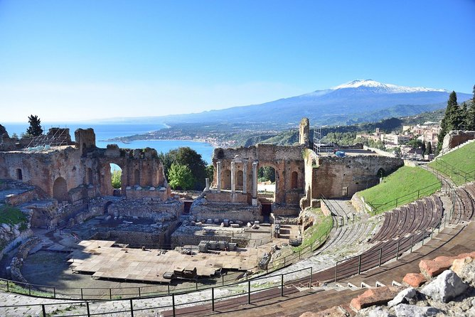 Join with us the Mt Etna & Taormina tour! This excursion gives you the opportunity to visit two of the most attractive places in Sicily in just one day!<br><br>Following a hiking route up to 2000 meters, you will have the chance to admire forests, craters, lava formations, and scenic views of the mountain. <br><br>You will visit a volcanic cave using the equipment provided from us (helmets and torches).<br><br>After the trekking, you will stop at a nice Chalet, where you will enjoy a snack with sandwiches or, according to the weather conditions, you will do an outdoor picnic with typical Sicilian Street food. The lunch will be accompanied by water and local red Etna wine.<br><br>Then we will move to the beautiful town of Taormina. Relax yourself having a walk along Corso Umberto, buying some souvenirs for your relatives and friends, discovering the magic of the Greek Theater, or simply taking pictures of the beautiful landscape. <br><br>The tour is in Italian and English. Upon request also in Spanish and French.