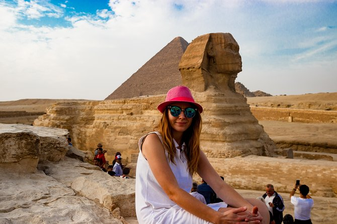 It's a unique opportunity to visit the capital of the most ancient civilization - Cairo. You will see the only remaining one of the Seven Wonders of the World - the Great Pyramids of Giza. You will visit the Egyptian Antiques Museum.<br>We will pick you up from the hotel at 4:30 am and take you to Sharm el-Sheikh airport. Only 1 hour by flight and you are already in Cairo, where the guide will be waiting for the group.<br>Your 1 day trip will start with a tour to the Museum. The exposition is devoted to different epochs of the pharaohs.<br>After lunch in the restaurant you will go to the Pyramids Plateau and the Sphinx. The guide will tell you the history of the pyramids, will reveal many secrets.<br>After exploring all the sights, the guide will go shopping, where you can buy souvenirs, papyrus, perfume and medical oils, gold and silver products. Then you go to the Cairo airport. In Sharm el-Sheikh a transfer guide will meet you and take to the hotel. Estimated arrival time 20:00 - 22:00.
