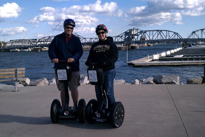 "Sturgeon Bay's Growth through the Centuries<br><br>You will breathe in the fresh air of Sturgeon Bay's canal as you visit many of the city's highlights, including the historic Steel Bridge, Graham Park, the Downtown District, a history museum, and more.<br><br>On this fun Segway glide, you will pass over the historic Steel Bridge, see the Bay Shipbuilding shipyard, visit Big Hill, and the Louisiana Street Historic District.<br><br>The city is split in half by a canal. Sawyer used to be on the south bank and Sturgeon Bay on the north. You will pass over the historic Steel Bridge as you make your way to Bay Shipbuilding shipyard, the old rail station, and Big Hill Park. Along the way, you will learn interesting nuggets of Sturgeon Bay history.<br><br>The people of Sturgeon Bay love watching you as you fly by on your Segway! You will have experienced the diversity of the only ""city"" in Door County by the close of this fantastic tour full of interesting sites.<br><br>For a tour today call!"
