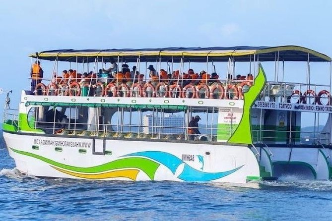"100% Safe on A Super Grade Luxury Passenger Cruiser<br><br>Highest Travel Insurance by a whale watching operator in Mirissa<br><br>Licensed by Government of Sri Lanka(License No :DWC/MRS/45)<br><br>Most Experienced Crew trained under"" Project Blue Print"" HIRED to give you the best of Mirissa whale watching<br><br>""WhalesFirst""-Strictly follow the International Whale Watching Guidelines & Best Practices issued by Whale & Dolphin Conservation in the UK<br><br>Cruiser- Exclusively Designed for Whale Watching Adventure Trips WITH SPACE around for observation<br><br>Everyone is getting on the upper deck for Wider and Deeper view<br><br>100% Satisfaction Guaranteed<br><br>Two licensed Captains 