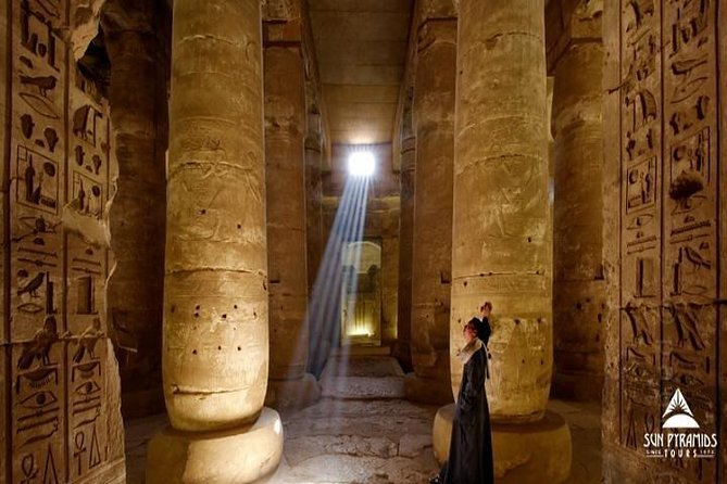 Drive north from Luxor for a day to see two of the most complete temples in Egypt. Abydos Temple is dedicated to the Ancient Egyptian god of the underworld. Temple of Hathor at Dendara may be the best preserved in Egypt with full color still visible on its walls.<br><br>