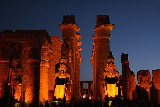 Enjoy Luxor Tours Watching Karnak Temple Sound and Light Show on the east bank illuminated at night with an audio-visual show that will explain how the temple was built and what life was like in Ancient Egypt.<br><br>