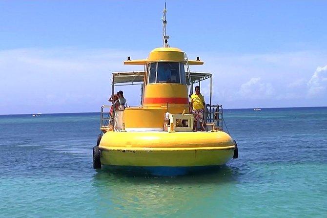 Barco con fondo de vidrio + Traslados del Muelle, Roatan, HONDURAS