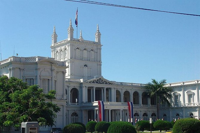 """Daily Departure: 09:00 & 15:00 HS.<br>Discover Asuncion, The """"Mother of Cities"""", visiting the National Heroes Pantheon, The Independence House and its museum. The Central Post Office, The Metropolitan Cathedral, The Old Parliament, The Government Palace, The New Building of the Congress, The Old Train Station with one of The First Steam Trains of South America, The Port, The Recova (Typical market place of craftsmaship), The Main Residential neighborhoods and """"Mburuvicha Roga"""" (The Chief´s House), The Official Residence of the Nation´s President. Enjoy the Charm of Asuncion! Includes transfer in a private vehicule with air conditioning and guide."""
