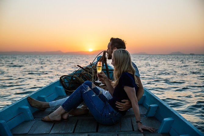 Enjoy a stunning Kep sunset on the private and exclusive sunset cruise on-board our refurbished local fishing boat, a perfect romantic experience or great way to relax with family and friends. You will be served Champagne and fine wines along with exclusive canapes.