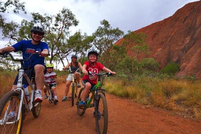 Explore the magical base of Uluru at your leisure<br> Cruise around easily on a sturdy bicycle<br> Discover the famous Mutitjulu Waterhole and many other sacred Aboriginal sights<br> Enjoy comfortable transfers from your accommodation to the base of Uluru