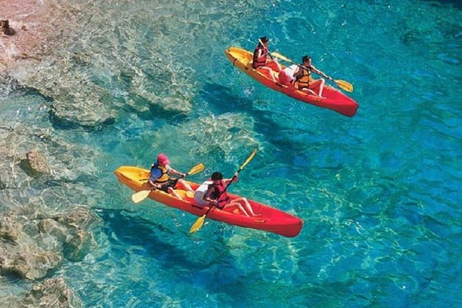 Includes:<br><br>Round-trip transportation to and from your Naxos & Taormina hotels,<br>Mineral water<br>Experienced, personable guide(s) with CPR and first aid training<br>Beach side safety and paddling instruction from our guide(s)<br>snorkeling set<br>Snorkel instruction<br>Duration:<br><br>3 hour excursion (including round-trip transportation time).<br><br>Start Time:<br><br>The standard start time for this excursion is 9:00 am; however, some dates have alternate start times, based on availability. Contact us if you would like an alternate start time.