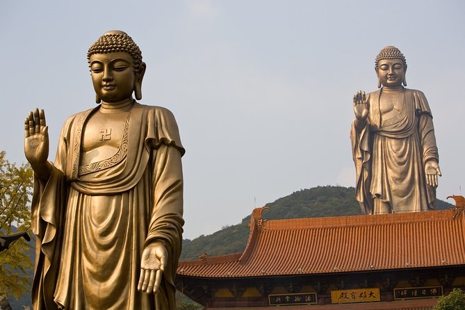 Enjoy door-to-door service in a comfortable private vehicle operated by a courteous friendly driver from your Wuxi train station to Lingshan Buddhist Scenic Spot. Marvel at the world's largest bronze Buddha statue on the top and discover the fascinating Buddhism culture of the Lingshan temple.