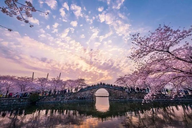 Discover the amazing Lingshan Buddhism Scenic Spot and Yuantouzhu park on Taihu lake in this private day tour. Admire the world's largest bronze Buddha statue with a height of 88 meters (289 feet) as well as other amazing attractions including the Brahma Palace, Five Mudra Mandala, Nine Dragons Bathing Sakyamuni, Xiangfu Temple. Then, spend the afternoon exploring the Yuantouzhu park and enjoy the beautiful natural scenery on Taihu lake.