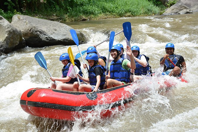 Ayung River Rafting is one of the great Bali River Rafting Packages which is located in northern part of Ubud can be considered as one of the best white water river rafting in Bali because very suitable for beginner and very appropriate for family activities. If you would like to discover a hidden waterfall than you can find it here, scenery and wild life that you can get here such as rice field, jungle, kingfisher and waterfall. If you do Ayung River Rafting than you will enjoy Bali rain forest and very well maintain rice field. You may also able to see wild life on Bali rain forest such as beautiful Blue Javan Kingfisher. Ayung River Rafting offer a very unique sensation that you won't get it on other places. The river has clear water and very fresh if you would like to swim, Ayung river has ten kilometers route and two hours rafting adventure that you will get. The river offer class II rapids and III which is very appropriate for beginner and children.