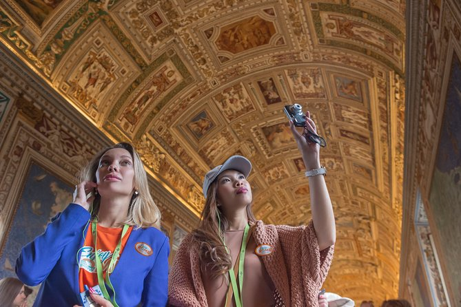 This essential Vatican City tour begins with a visit to the Vatican Museums- the most beloved place to visit in Rome. Skip the line and allow yourself more time to discover great artworks by Michelangelo and Raphael. <br>Explore the Pio-Clementino Museum and travel through the Gallery of the Tapestries, 75 meters long named after the elaborate Flemish tapestries that drape its walls. The Gallery of the Maps, painted between 1580 and 1585, takes its name from the 40 maps frescoed on the walls, representing each of the Italian regions and papal properties at the time of Pope Gregory XIII.<br>Our sightseeing Vatican visit continues to one of the most revered places to see in Rome – the Sistine Chapel. Your guide will walk you through amazing works of art including Michelangelo's The Last Judgement – the largest fresco ever painted by one man. As you explore the endless wonders, our guide will tell you the stories behind these famous masterpieces on this breathtaking Sistine Chapel tour.