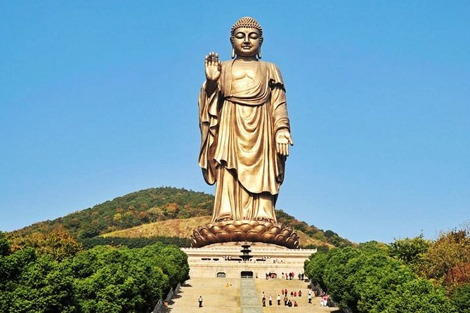 Enjoy the fun self-guided tour to the famous Wuxi attraction at Lingshan Buddhist Scenic Spot. Visit the Impressive Lingshan Buddha made braoze with other wonderful sites: temple, Palace, Mudran Mandala. Utilize the exclusive private door to door transfer service and travel with your local friendly driver. Different size of vehicles from 5 seats to 35 seats catering to different No.s of the travelers. With pickup and drop off available from your Wuxi hotel, Wuxi railway station or Wuxi airport.