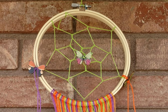 This Make-&-Take class uses some of the basics of weaving to teach participants how to create their own dream catcher. Participants will use 4 colors of thread to create decorative tassels that hang down from the dream catcher as well as learn how to add beads and feathers to their finished project.<br><br>The Inspired Art Kits include all of the instructions and materials needed to create your one of a kind piece, and can be created either in the studio or the kit can be taken with and created where ever and whenever the participant would like to create!